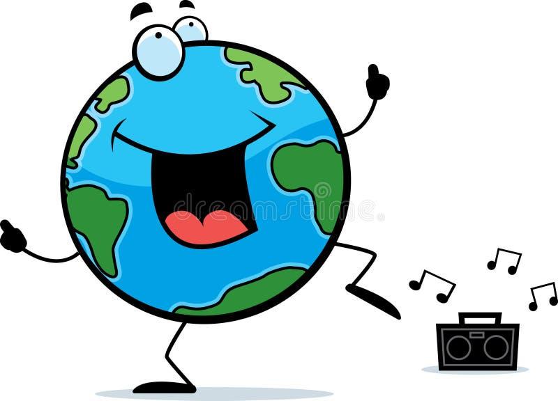 Dancing della terra illustrazione vettoriale