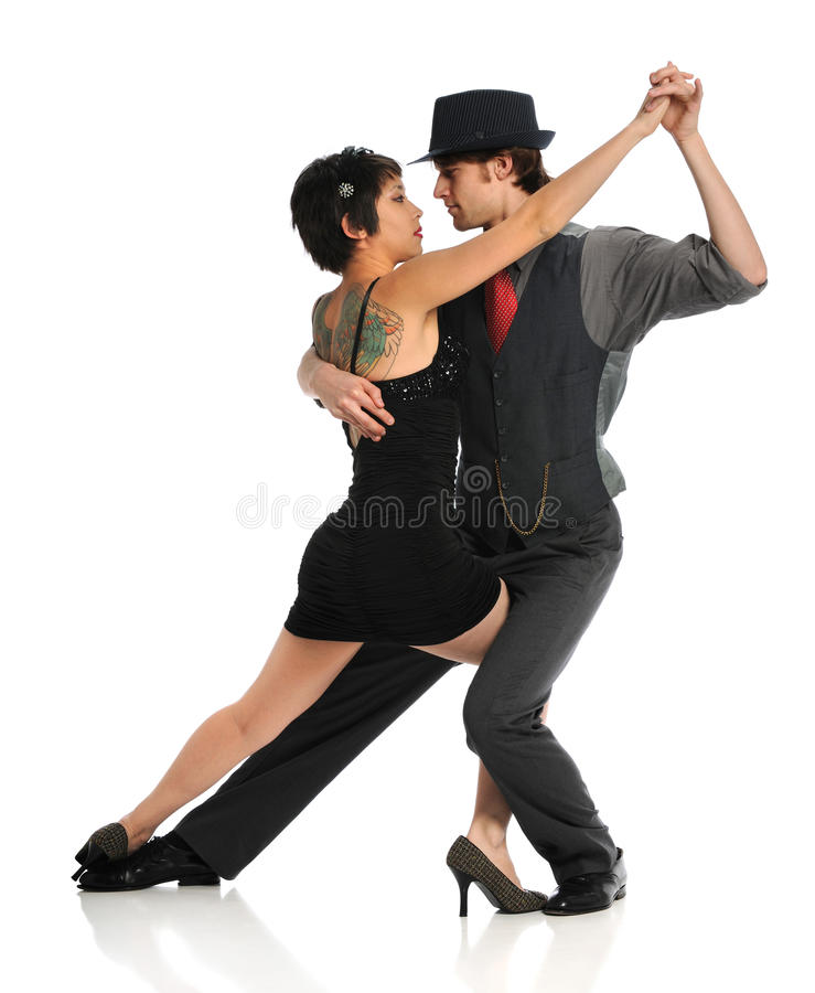 Dancing delle coppie immagine stock libera da diritti