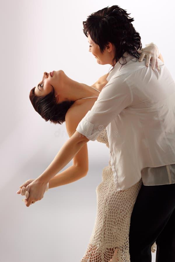 Dancing delle coppie delle donne fotografie stock libere da diritti