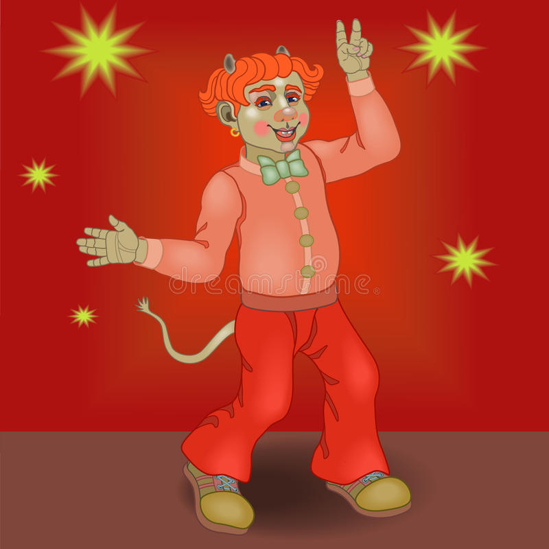Dancing Devil Royalty Free Stock Images