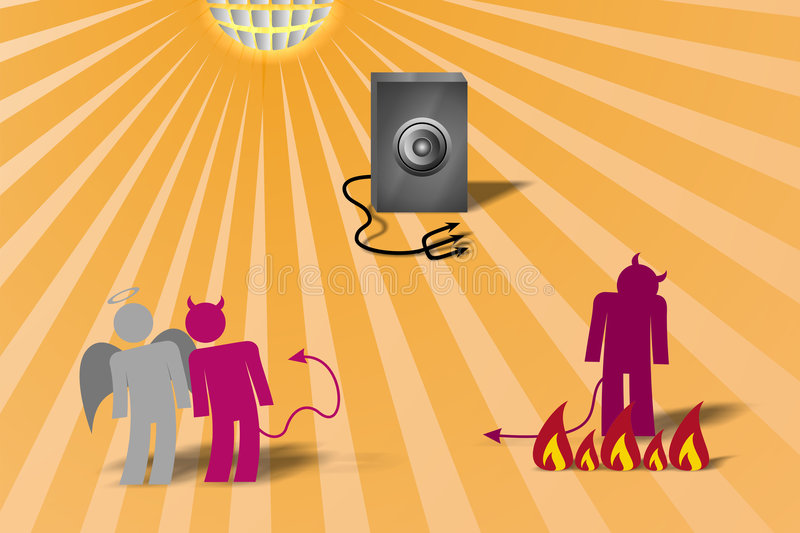 Dancing Devils 4, Vector Royalty Free Stock Photography