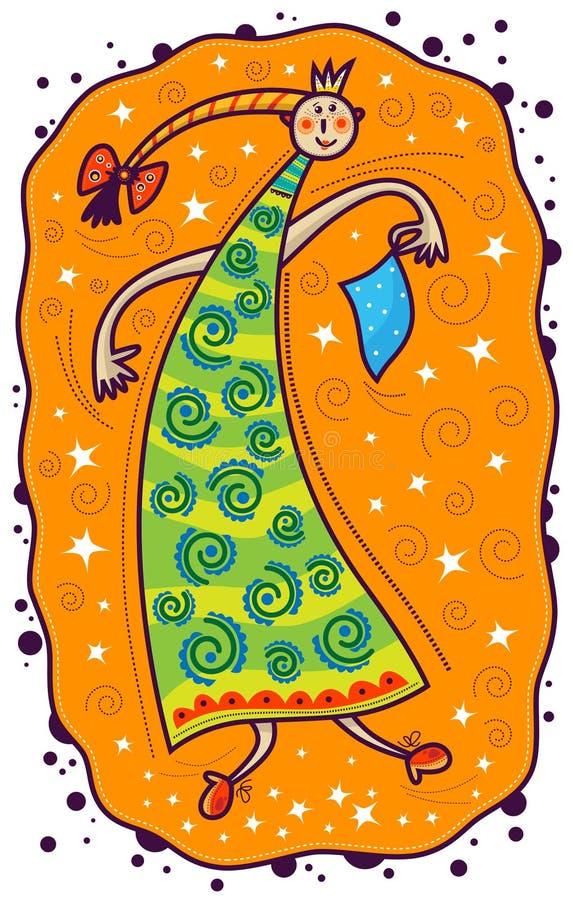 Dancing di principessa royalty illustrazione gratis