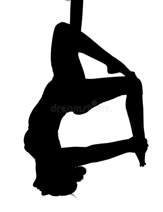 Dancing di seta aereo royalty illustrazione gratis