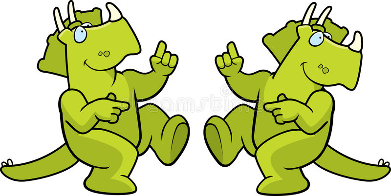 Dancing Dinosaur stock illustration