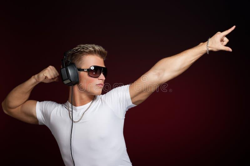 Dancing DJ fotografia stock libera da diritti
