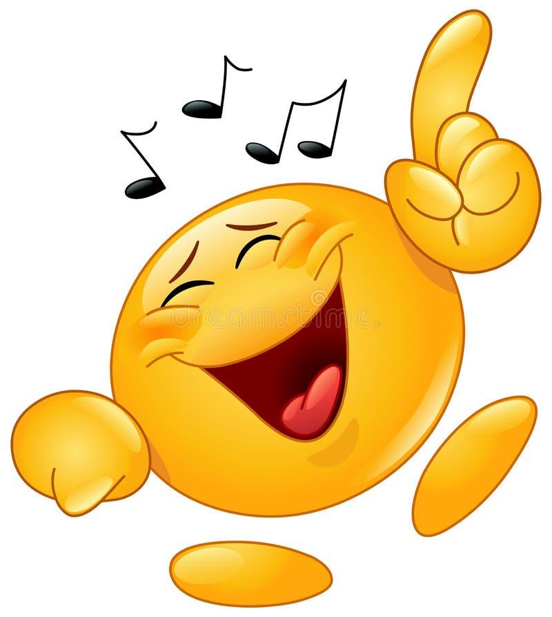 Dancing emoticon. Vector design of an emoticon dancing to music