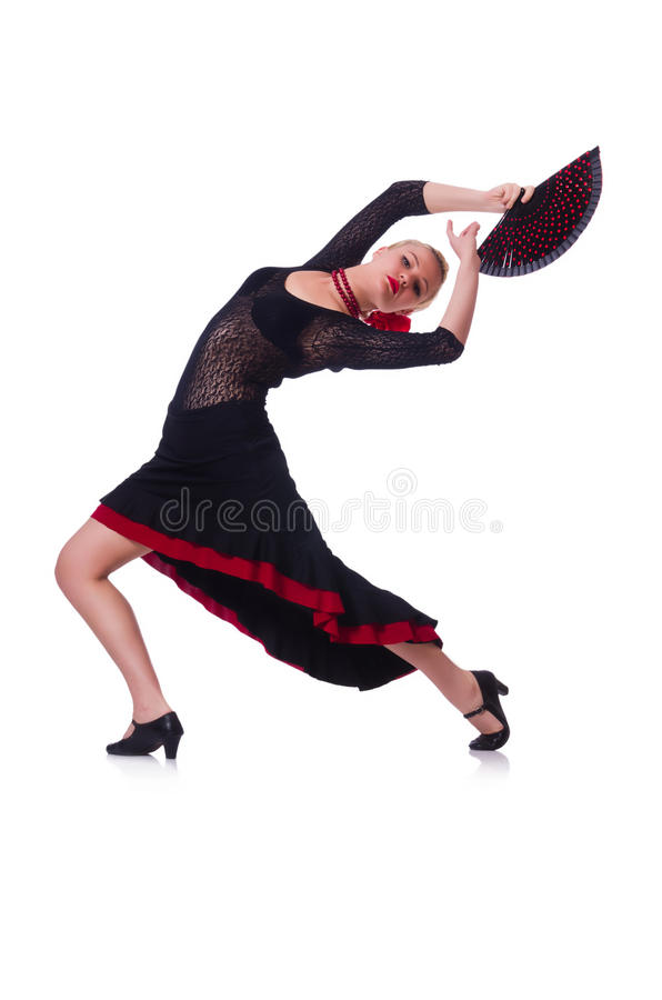 Dancing Femminile Del Ballerino Fotografia Stock Libera da Diritti