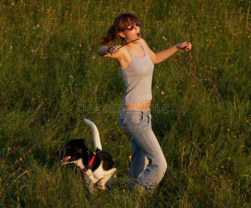 Dancing In The Field royalty free stock photos