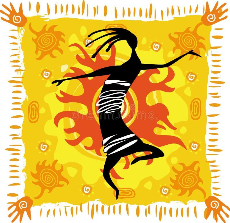 Download Dancing figure stock vector. Image of orange, primitive - 14399422