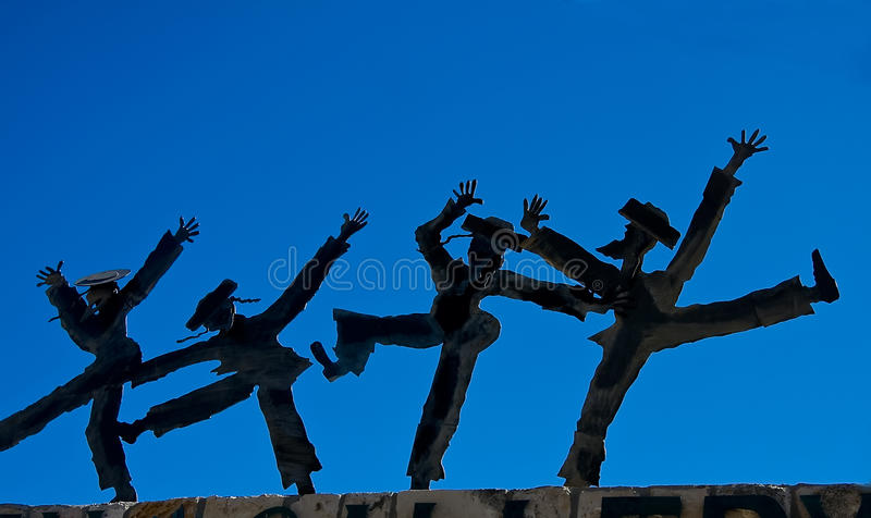 Download Dancing Figurines Against Blue Sky Stock Image - Image of happy, jews: 21081667