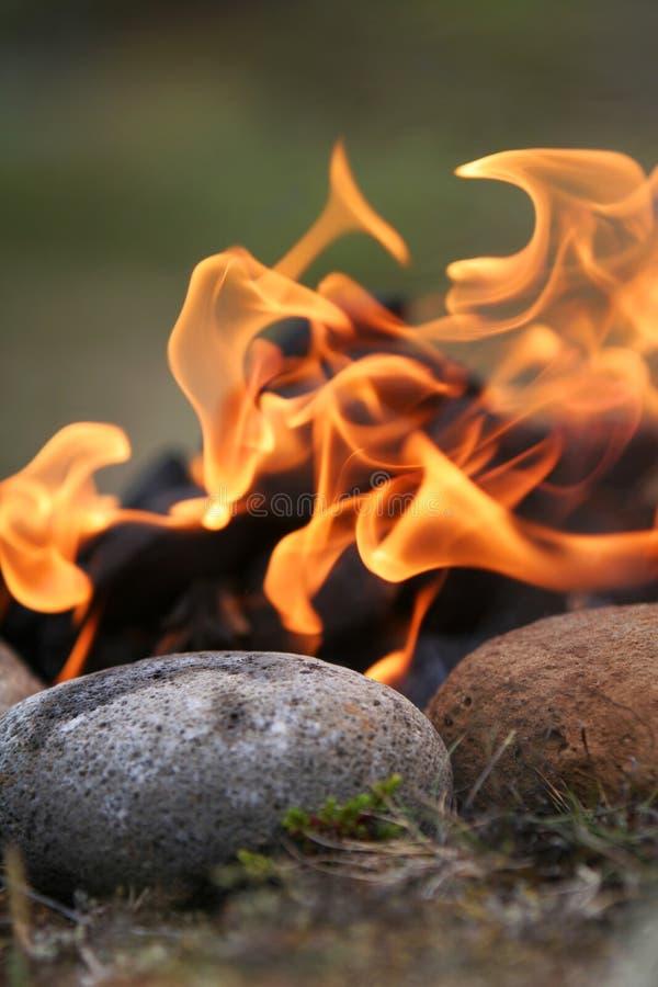 Dancing flames royalty free stock image