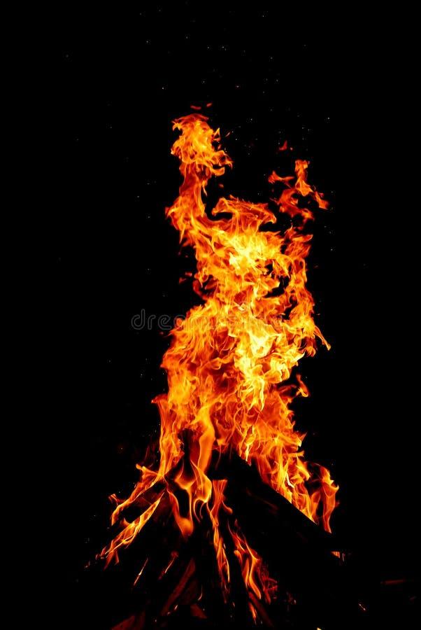 Dancing flames royalty free stock photo