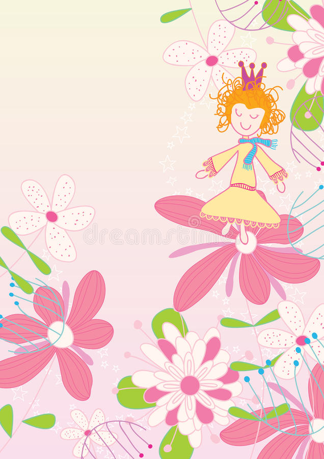 Download Dancing On Flower_eps stock vector. Image of birthday - 22044245