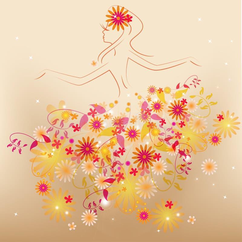 Dancing Flower Fairy Stock Photos