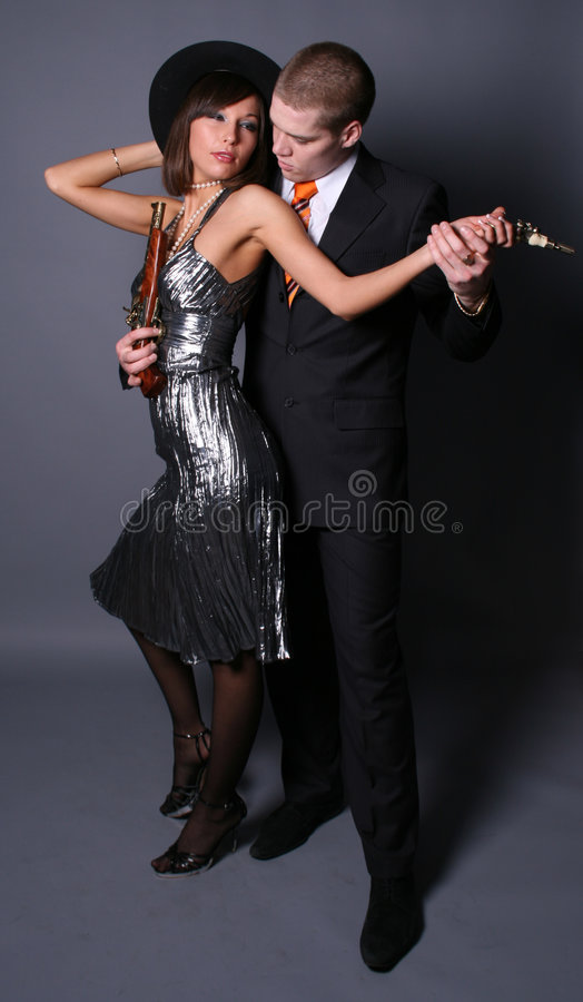 Free Dancing Gangsters Royalty Free Stock Photography - 8204627