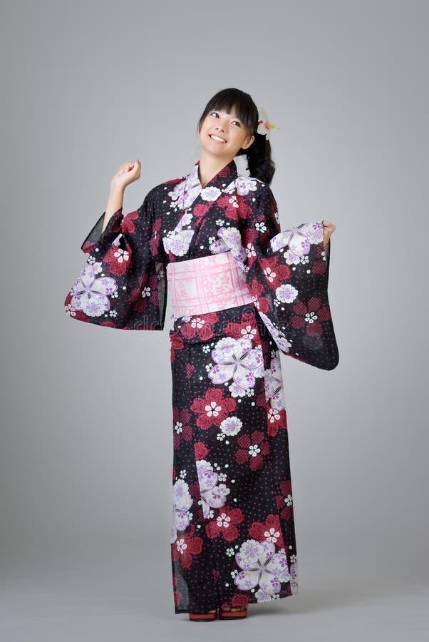 Dancing giapponese della ragazza fotografia stock