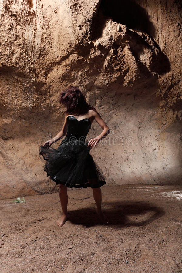 The dancing girl royalty free stock photo