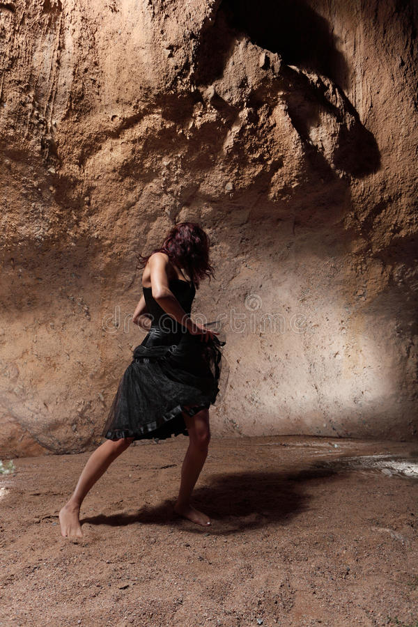 The dancing girl stock images