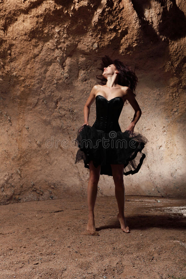 The dancing girl royalty free stock image