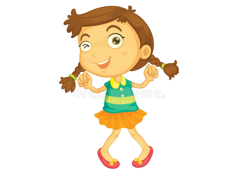 Download Dancing girl stock vector. Illustration of clipart, young - 24456494