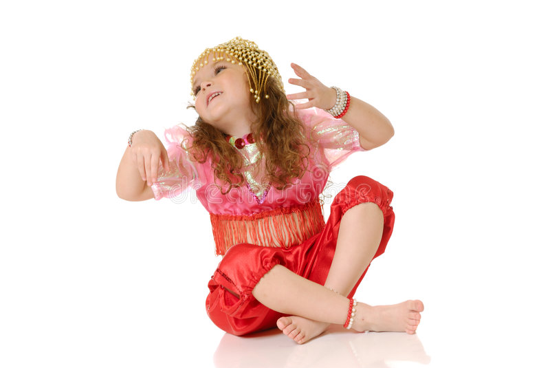 The dancing girl royalty free stock photos