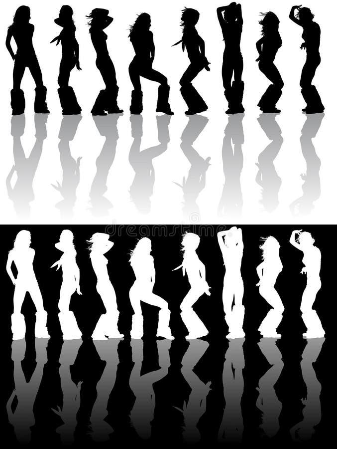 Dancing girl royalty free illustration