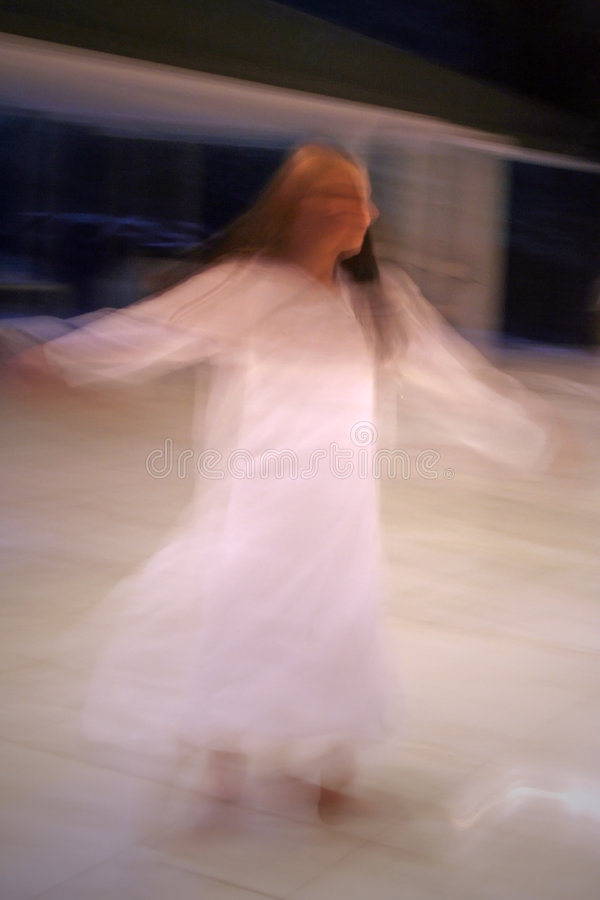 Dancing girl blur royalty free stock photography