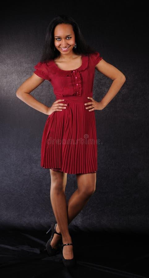 Download Dancing girl red dress stock photo. Image of dance, human - 14531486