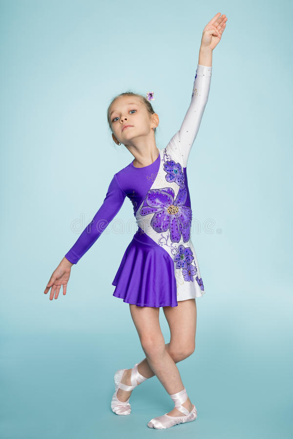 Dancing girl seven years stock images