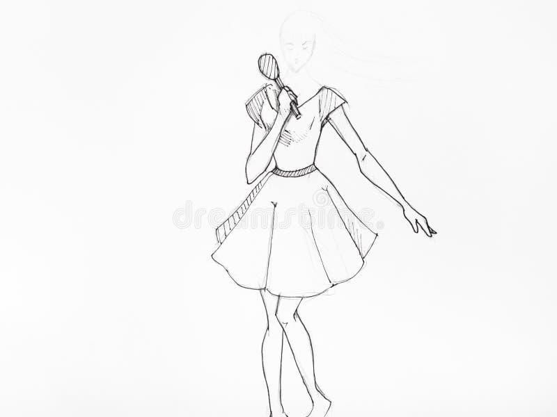 Sketch Girl Short Dress Stock Illustrations \u2013 454 Sketch