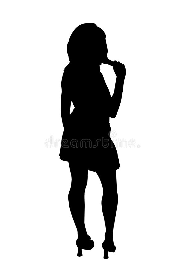 Dancing Girl Singing royalty free illustration