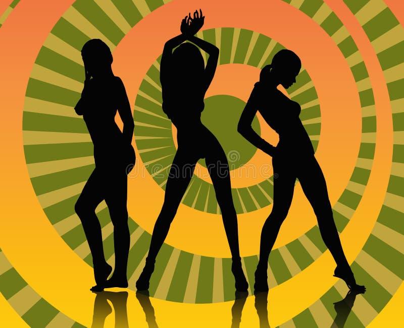 Download Dancing girls stock illustration. Image of pattern, backdrop - 3303337