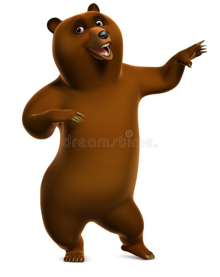 Dancing Grizzly Bear Royalty Free Stock Images