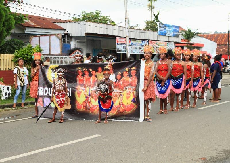 Dancing group Arowi stock image