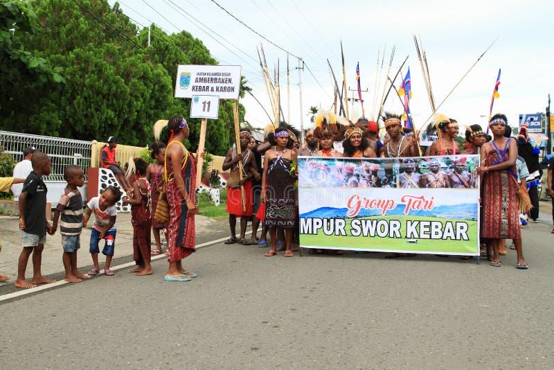 Dancing group Mpur Swor Kebar stock images