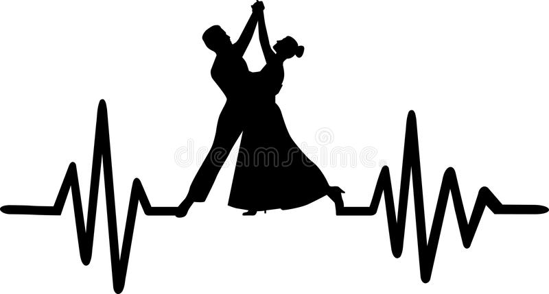 Dancing heartbeat line stock illustration