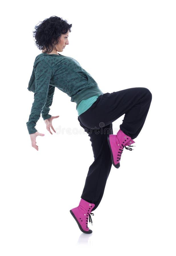 Dancing hip-hop dell'adolescente fotografia stock
