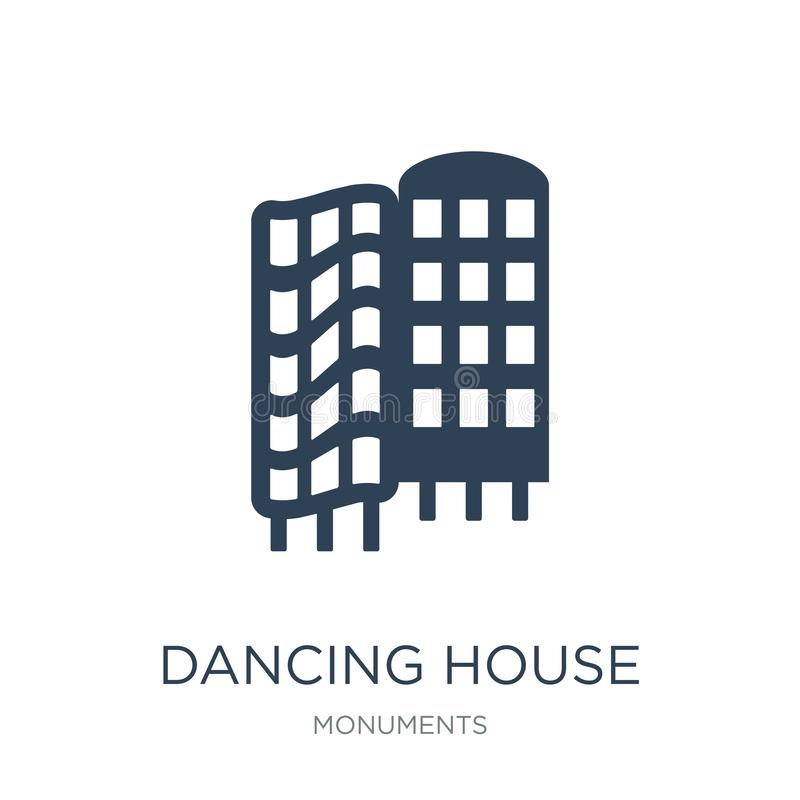 dancing house icon in trendy design style. dancing house icon isolated on white background. dancing house vector icon simple and vector illustration