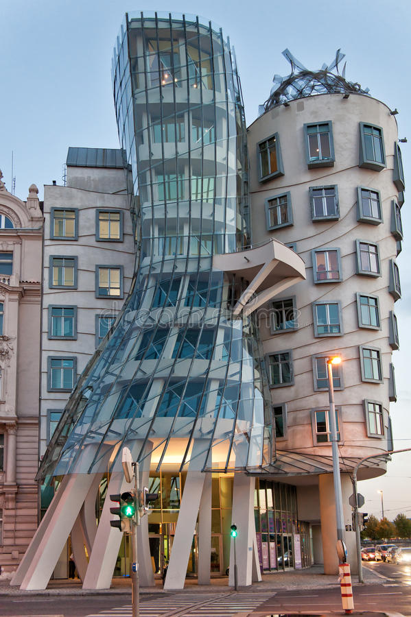 Dancing house, Prague, Czech Republic stock images