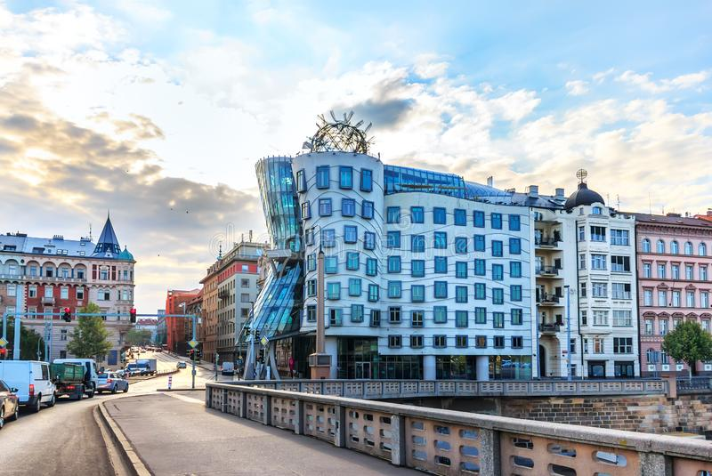 Dancing House of Prague, Czech Republic, no people royalty free stock image