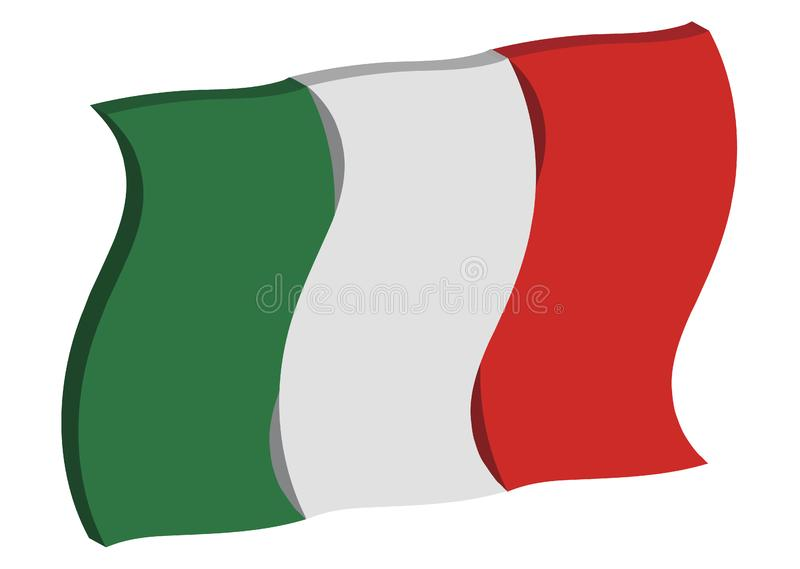 Dancing Italy Flag royalty free stock images