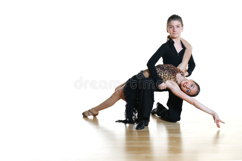 Dancing kids. Children dancers isolated on white background