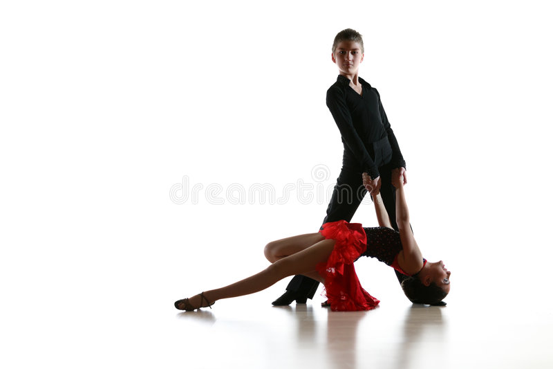 Dancing kids isolated stock photography