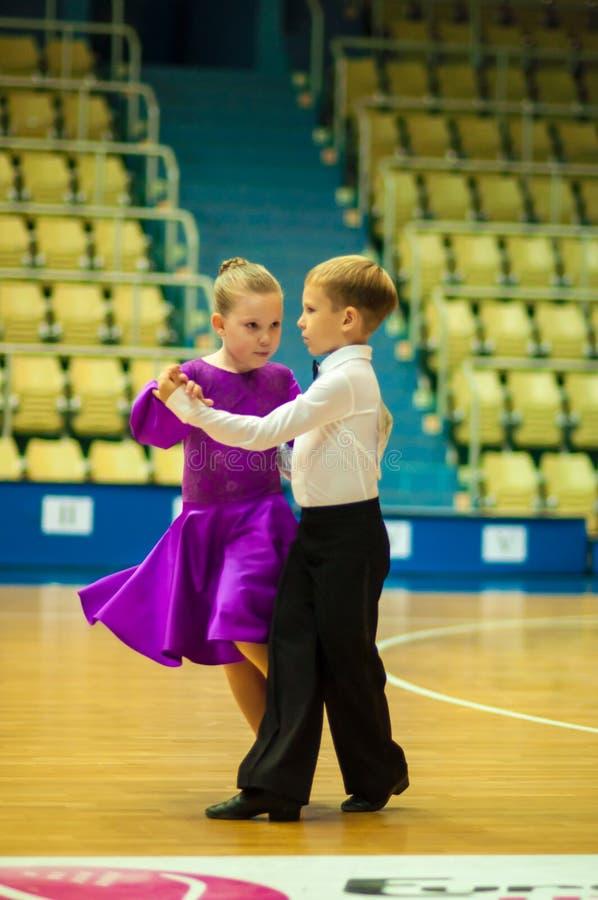 Dancing kids stock images