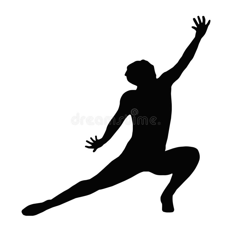 Dancing Lady Kneeling Spread Leg royalty free stock photos