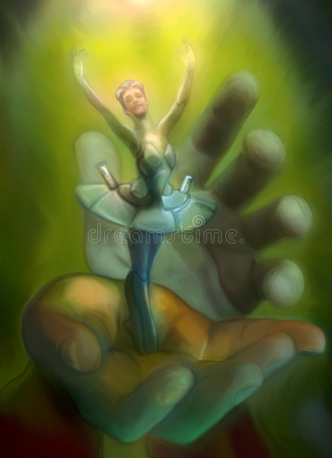 Dancing Lightly. Digital painting. This is not an actual person. It is painted from my imagination