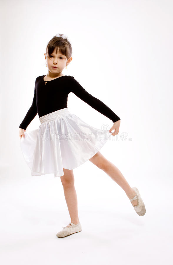 Dancing little girl stock images