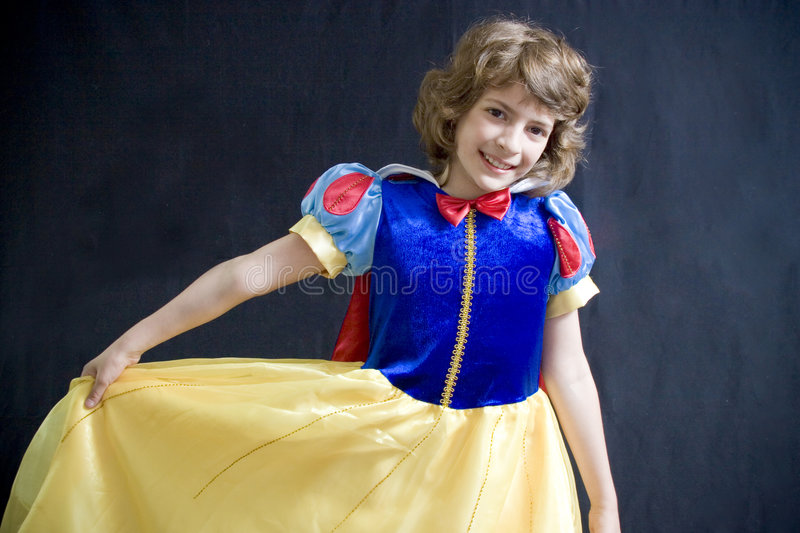 Download Dancing little girl stock image. Image of young, gown - 2596511