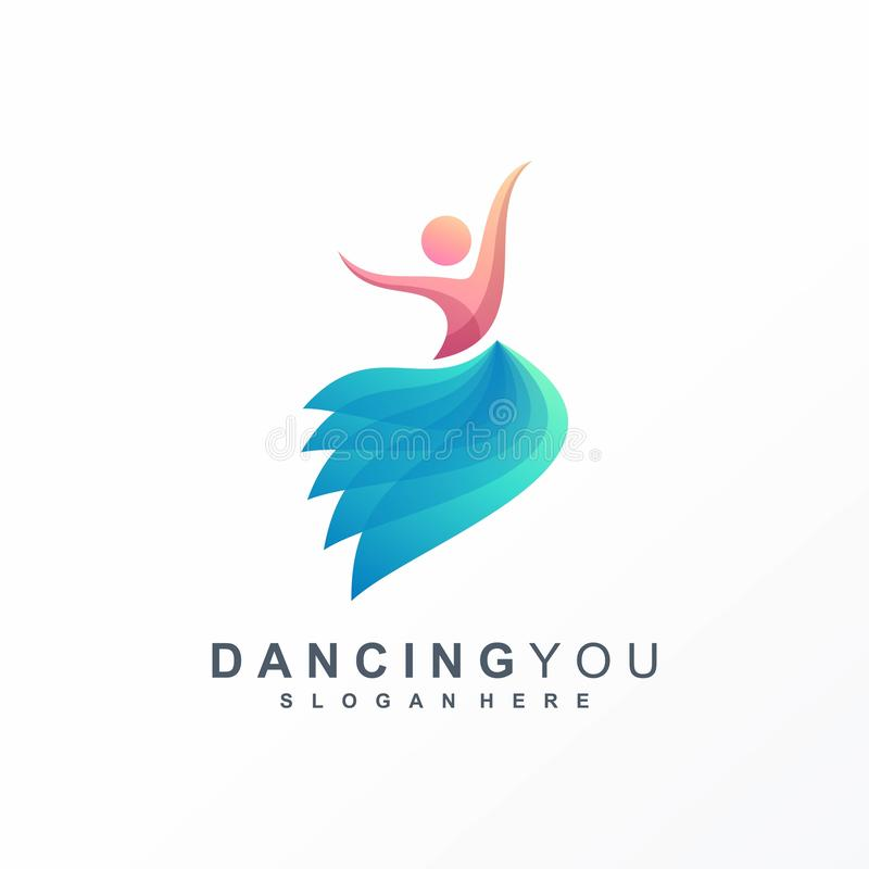 Dancing logo ready to use royalty free illustration
