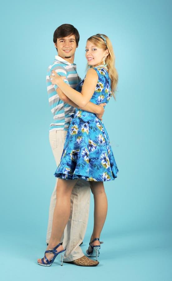 Dancing loving couple royalty free stock image